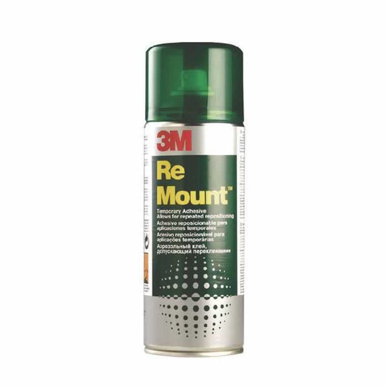 3M51942 3M ReMount Adhesive 400ml Light Bonding Adhesive Spray REMOUNT