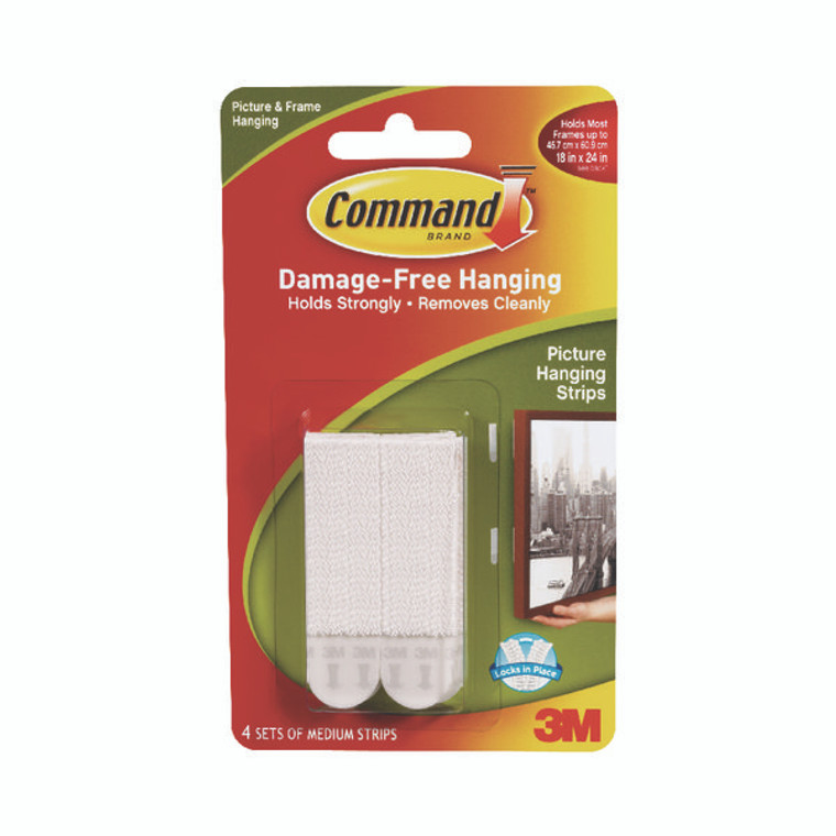 3M32101 3M Command Picture Hanging Strips Medium Pack 4 17201-4PK
