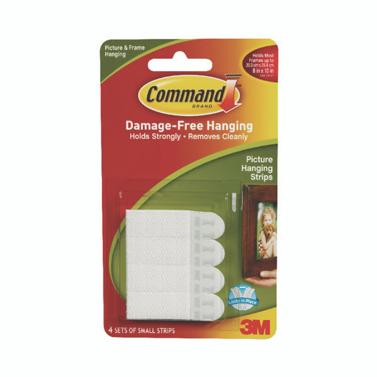 3M83027 3M Command Picture Hanging Strips Small Pack 4 17202