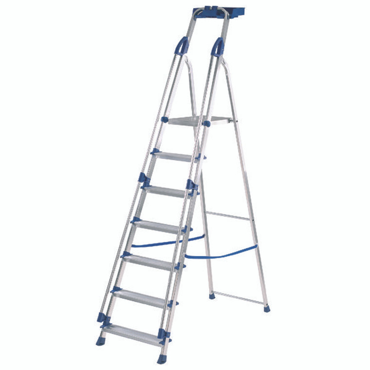 ABR10507 Abru Blue Seal 7 Tread Professional Aluminium Step Ladder 7050718