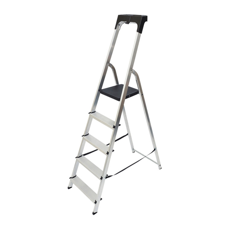 ABR60605 Abru Aluminium High Handrail 5 Tread Step Ladder 7410518