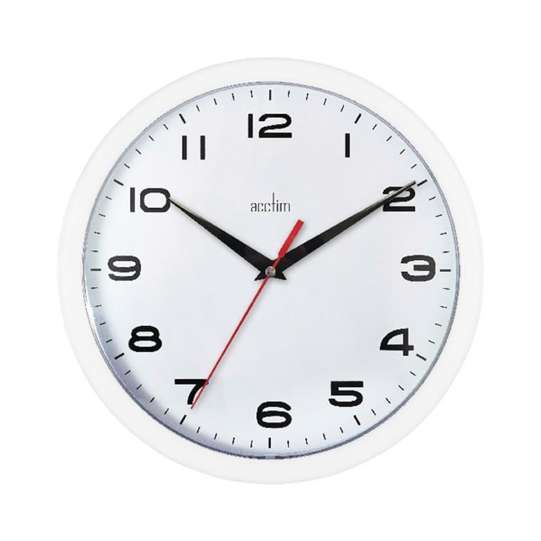 ANG92301 Acctim Aylesbury Wall Clock White 92 301