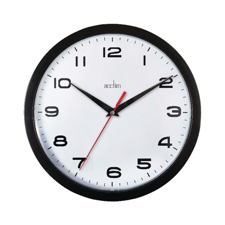ANG92302 Acctim Aylesbury Wall Clock Black 92 302