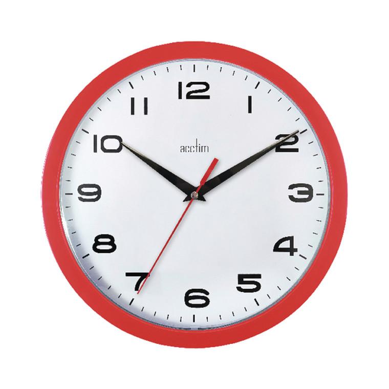 ANG92303 Acctim Aylesbury Wall Clock Red 92 303