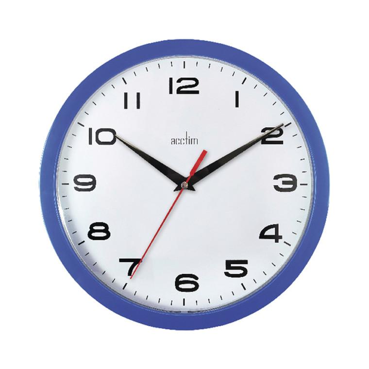 ANG92308 Acctim Aylesbury Wall Clock Blue 92 308
