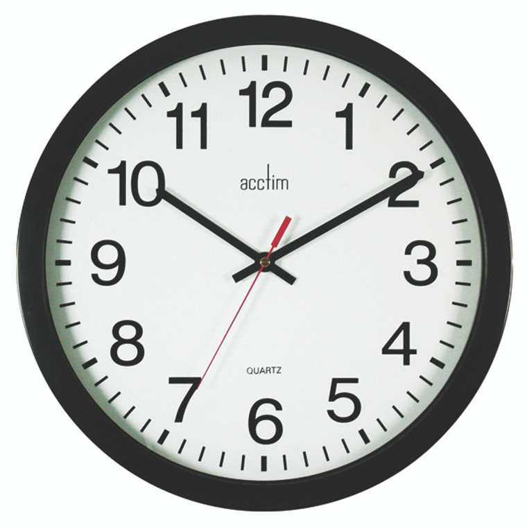 ANG33704 Acctim Controller Silent Sweep Wall Clock 368mm Black 93 704B