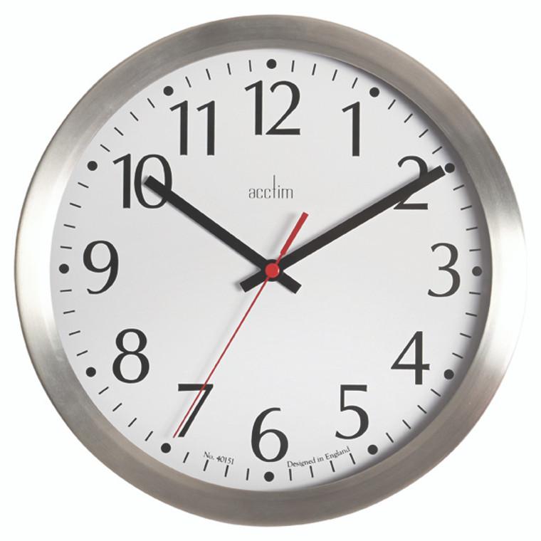 ANG27417 Acctim Javik 10 Inch Wall Clock Aluminium 27417