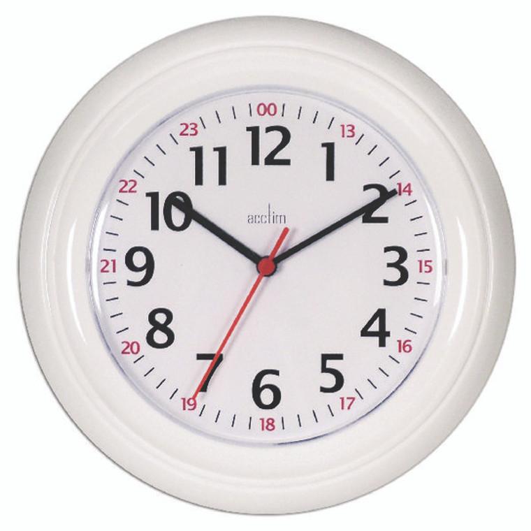 ANG21862 Acctim Wexham 24 Hour Plastic Wall Clock White 21862