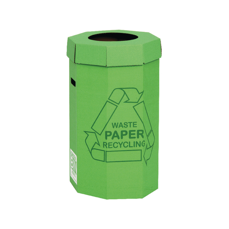 NW33005 Acorn Cardboard Recycling Bin 60 Litre Green Pack 5 402565