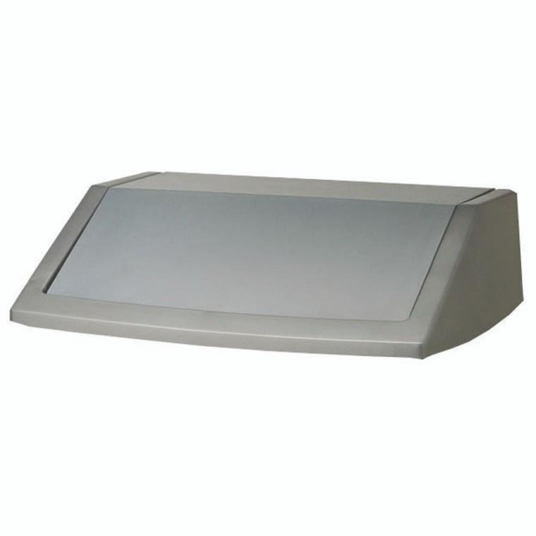 AG11797 Addis 60 Litre Flip Top Bin Lid Metallic Grey 504895