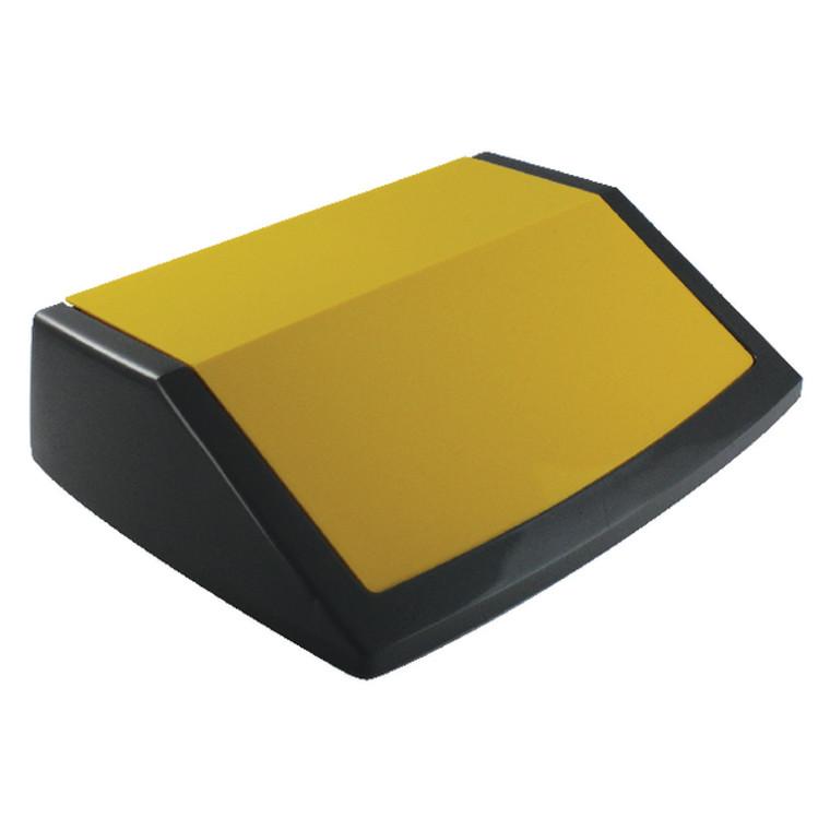 AG12060 Addis Red Yellow Blue Recycling Bin Kit Lids Metallic Pack 3 505575