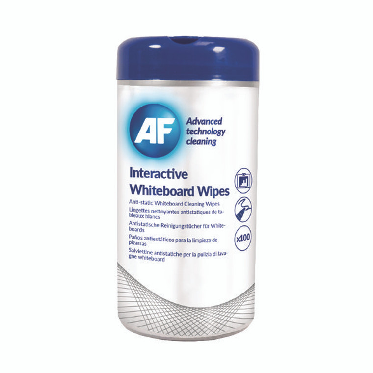 AFI50260 AF Interactive Whiteboard Wipes Pack 100 AWBW100T