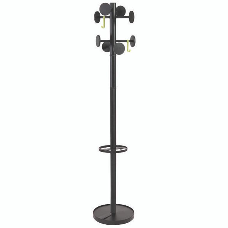 ALB08186 Alba Stan Coat Stand Black Total height 1750mm PMSTAN3N