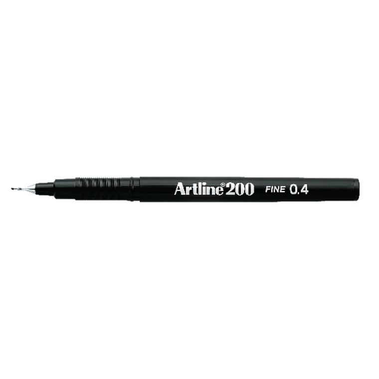 AR83025 Artline 200 Fineliner Pen Fine Black Pack 12 A2001