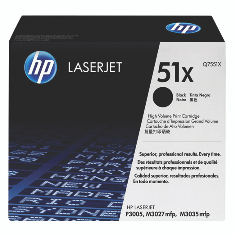 Q7551X HP Q7551X 51X Black Toner High Capacity