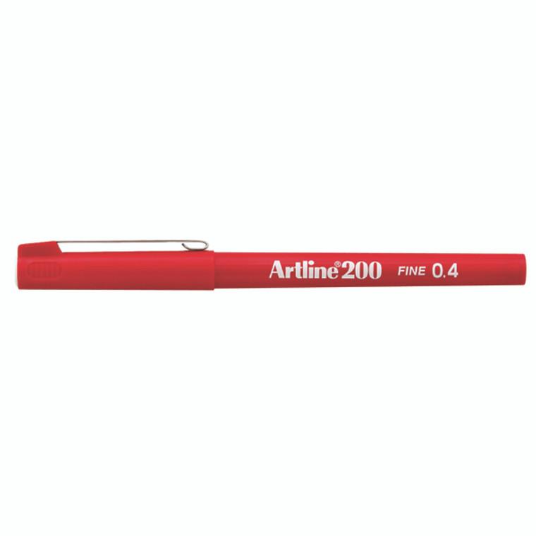 AR83027 Artline 200 Fineliner Pen Fine Red Pack 12 A2002