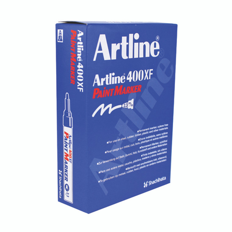 AR82020 Artline 400 Bullet Tip Paint Marker Medium Yellow Pack 12 A4006