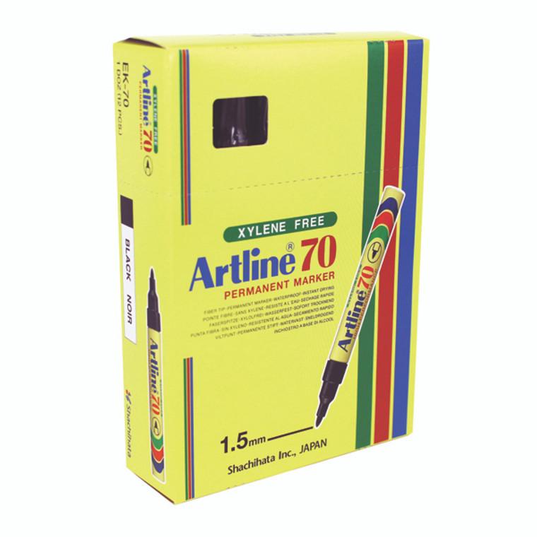 AR80151 Artline 70 Bullet Tip Permanent Marker Black Pack 12 A701