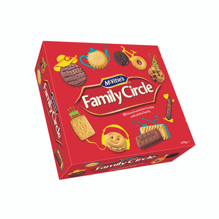 BZ13767 McVities Family Circle Biscuits 670g 35112