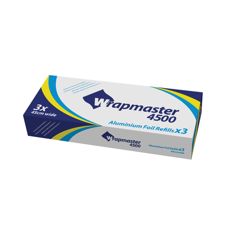 WR24553 Wrapmaster 4500 Foil Refill 450mmx90m Pack 3 24C55