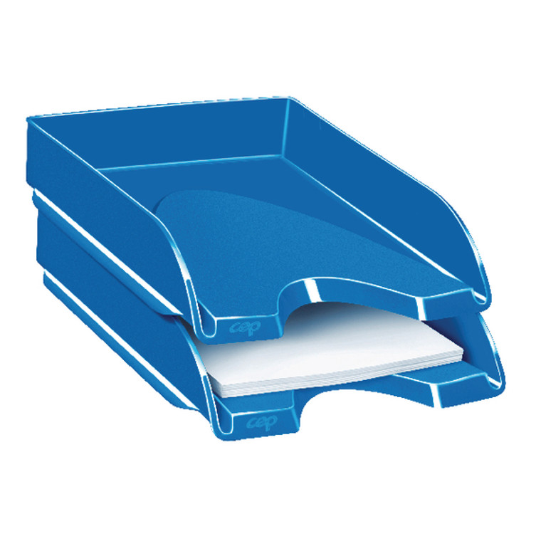 CEP00112 CEP Pro Gloss Letter Tray Blue 200GBLUE