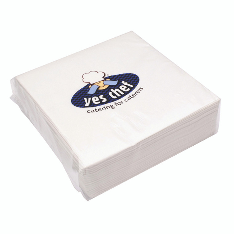 CPD32101 White 2-Ply Paper Napkins 400x400mm Pack 100 0502122