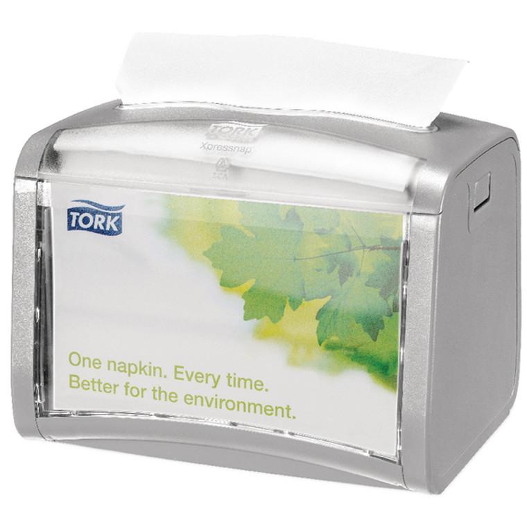 SCA53983 Tork Silver Xpressnap Tabletop Napkin Dispenser 272613