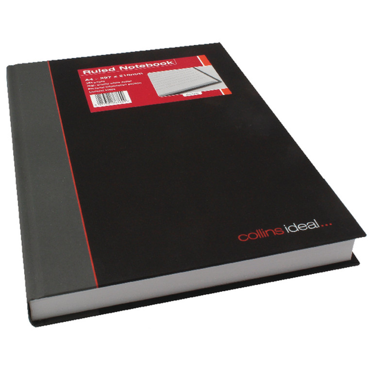 CL76760 Collins Ideal Feint Ruled Casebound Notebook 384 Pages A4 6448