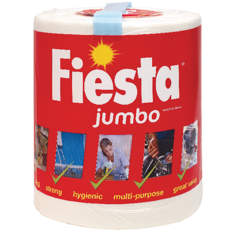 CPD01621 Fiesta White Jumbo Kitchen Roll 600 Sheets 5604400