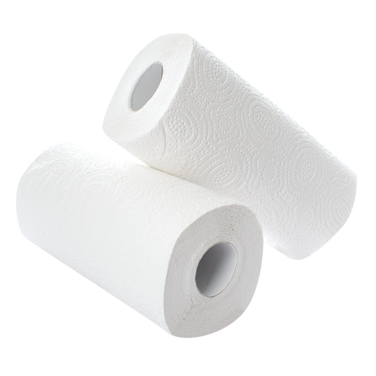 CT73665 2Work Kitchen Roll 2 Pack Pack 12 White CT73665