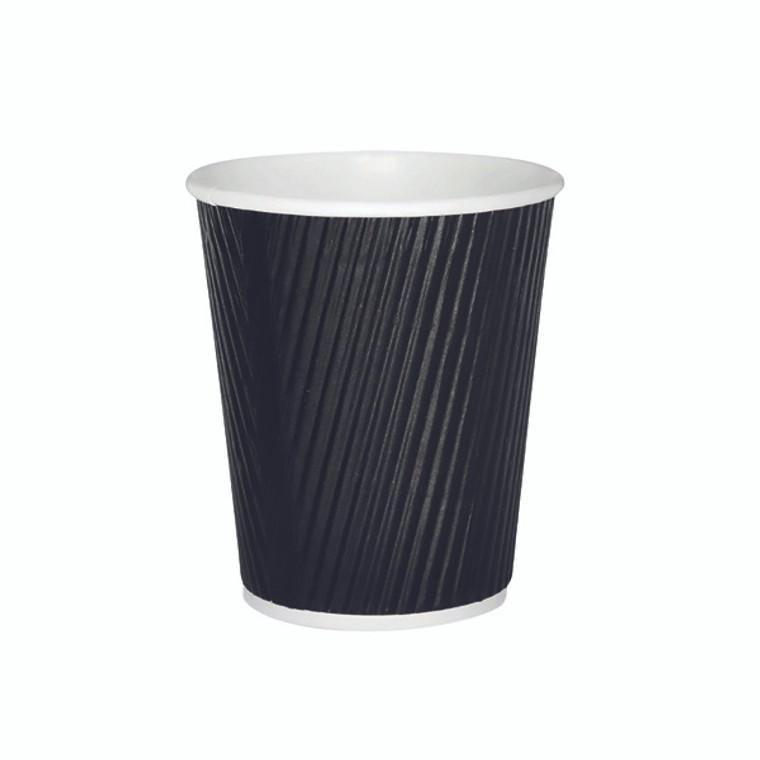 AS30035 25cl Black Ripple Cup Pack 500 HVRWBPA08