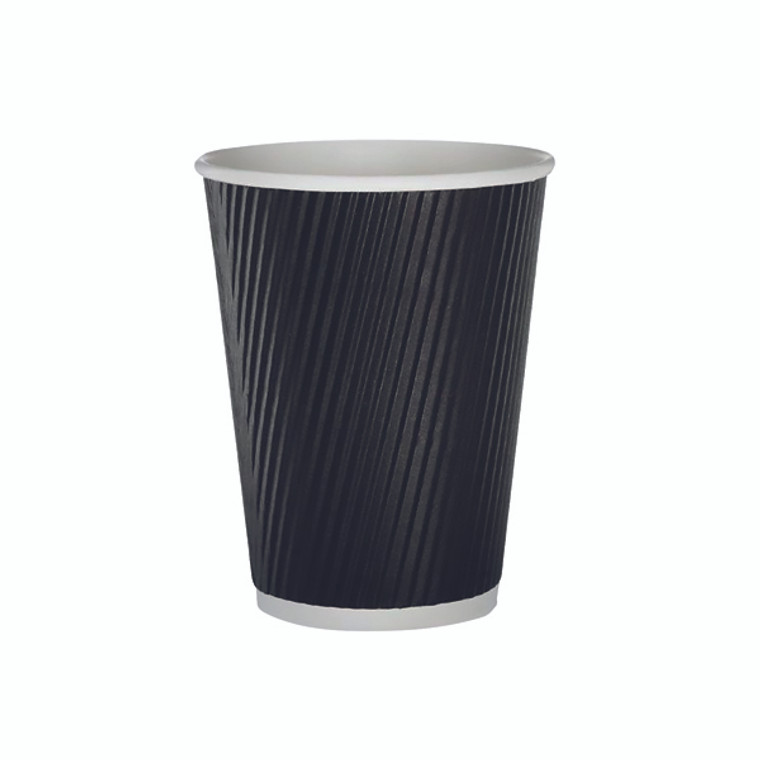 AS30034 35cl Black Ripple Cup Pack 500 HHRWPA12