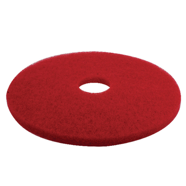 CNT01622 3M Buffing Floor Pad 430mm Red Pack 5 2nd RD17