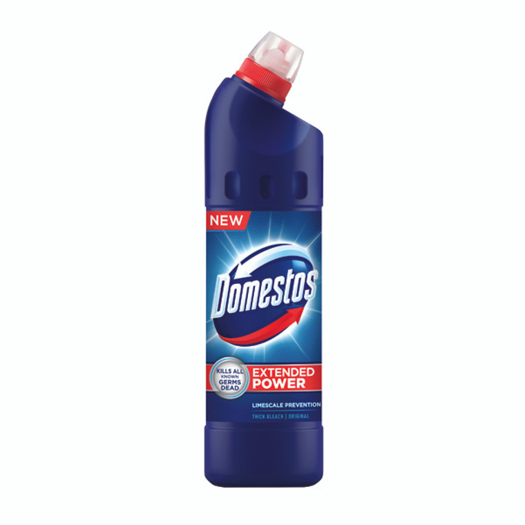 DV19623 9 x Domestos Thick Bleach 750ml Concentrated thick liquid kill germs 100879718