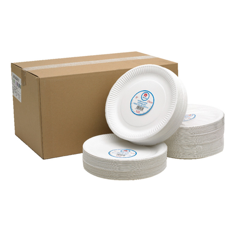 CPD75081 Paper Plate 9 Inch White Pack 100 0511041