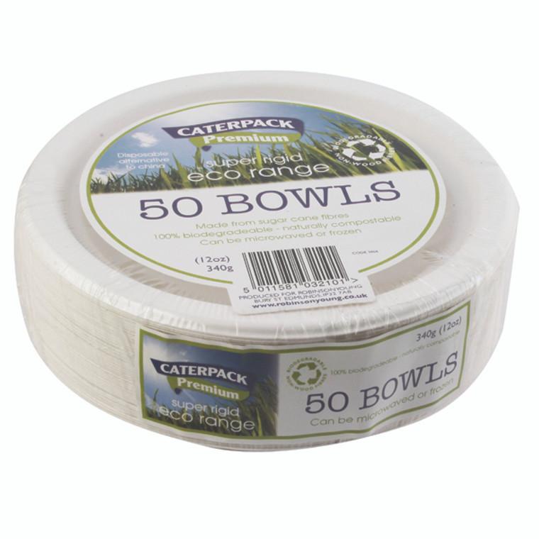 RY32101 Super Rigid 7 Inch 12oz Biodegradable Bowls Pack 50 3866
