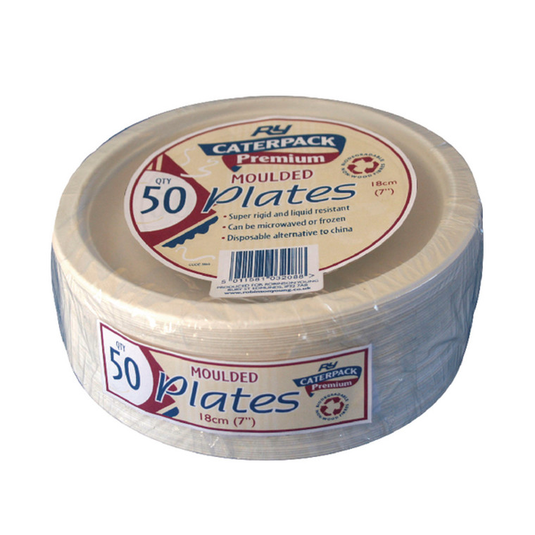 RY32088 Super Rigid 7 Inch Biodegradable Plate Pack 50 3865