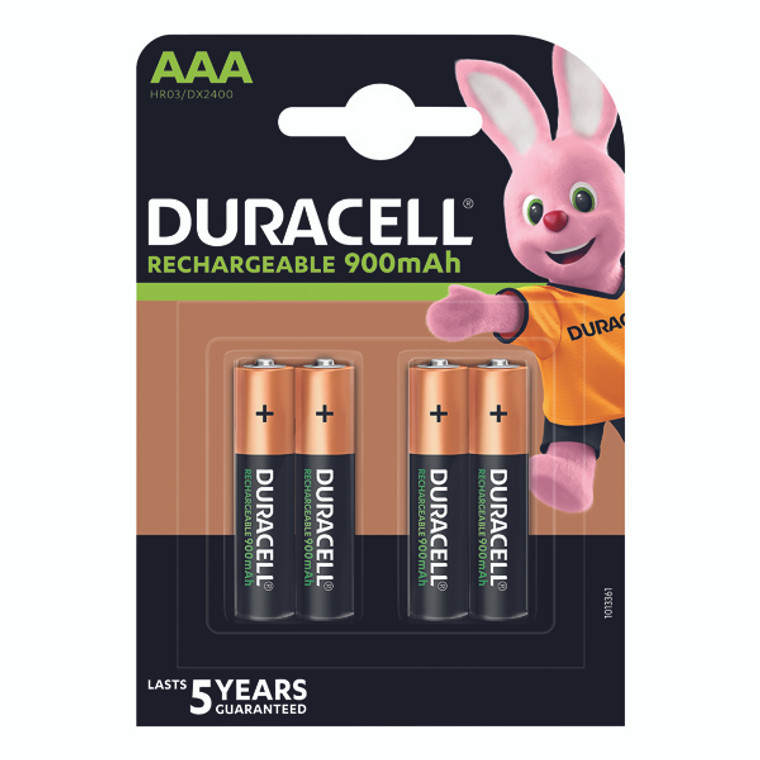 DU09023 Duracell Stay Charged Rechargeable AAA NiMH 750mAh Batteries Pack 4 81364750