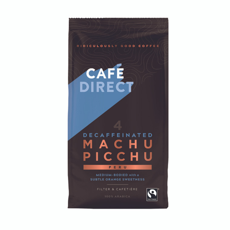 GAL00986 Cafedirect Fairtrade Organic Roast Ground Decaffeinated Coffee 227g TWI12028