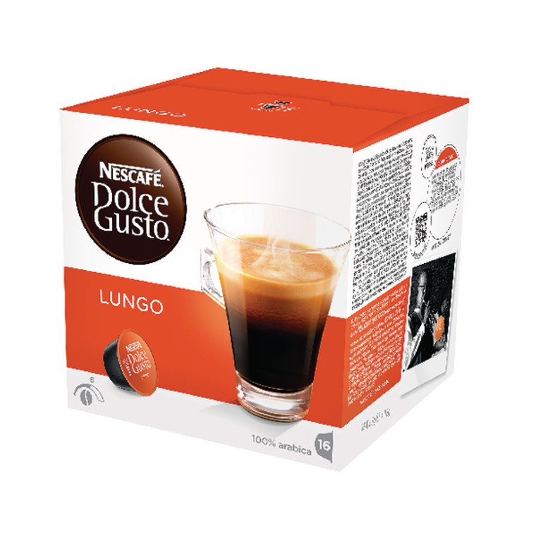 NL19842 Nescafe Dolce Gusto Cafe Lungo Capsules Pack 48 12019900