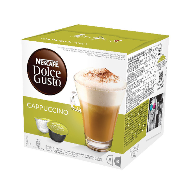 NL19849 Nescafe Dolce Gusto Cappucino Capsules Pack 48 12352725