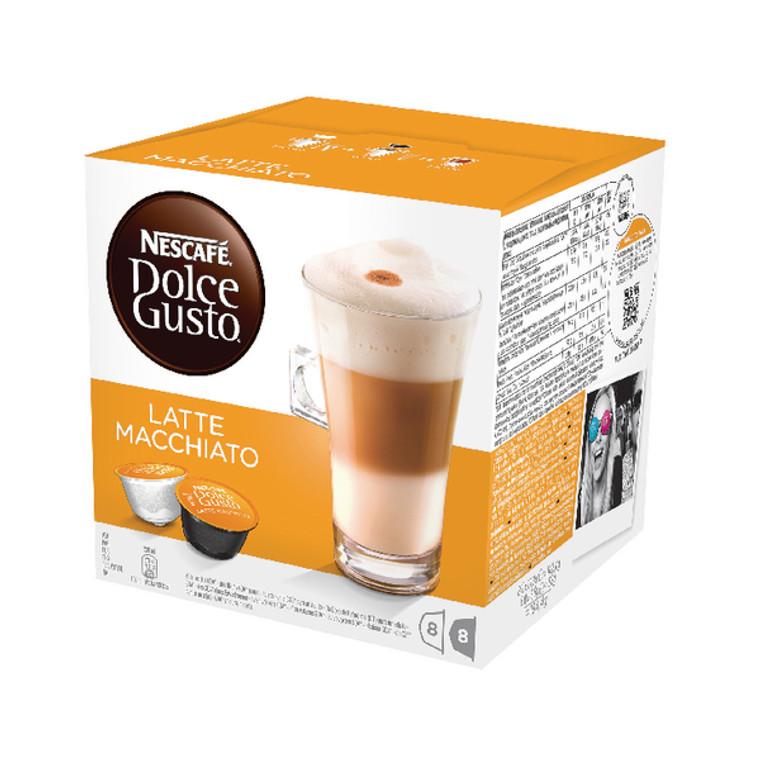 NL19838 Nescafe Dolce Gusto Latte Macchiato Capsules Pack 48 12019858