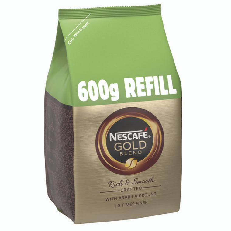 NL36874 Nescafe Gold Blend 600g Refill Makes approx 333 cups 12226527