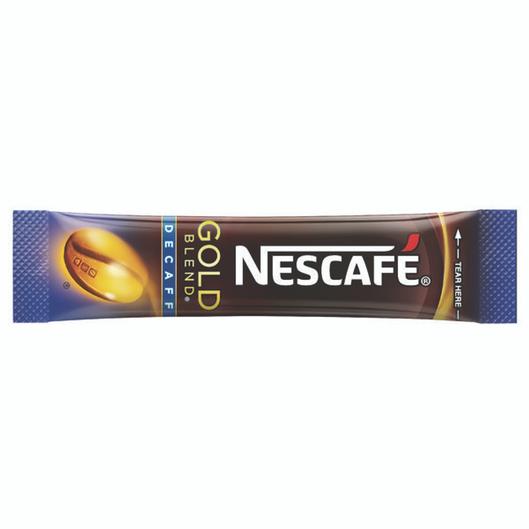 NL72759 Nescafe Gold Blend Decaffeinated One Cup Sticks Coffee Sachets Pack 200 12130482