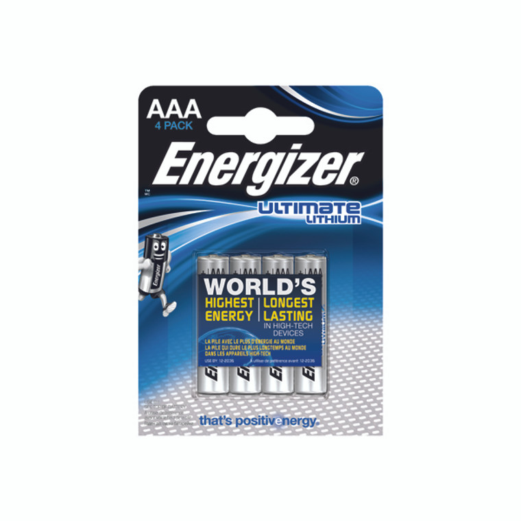 ER27326 Energizer AAA Ultimate Lithium Batteries Pack 4 632965