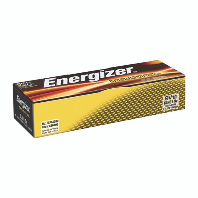 ER36109 Energizer 9V Industrial Batteries Pack 12 636109