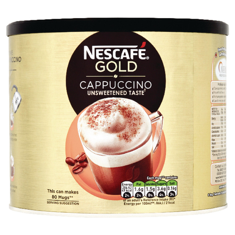 NL30707 Nescafe Cappuccino 1kg Makes approx 60 cups 12314882