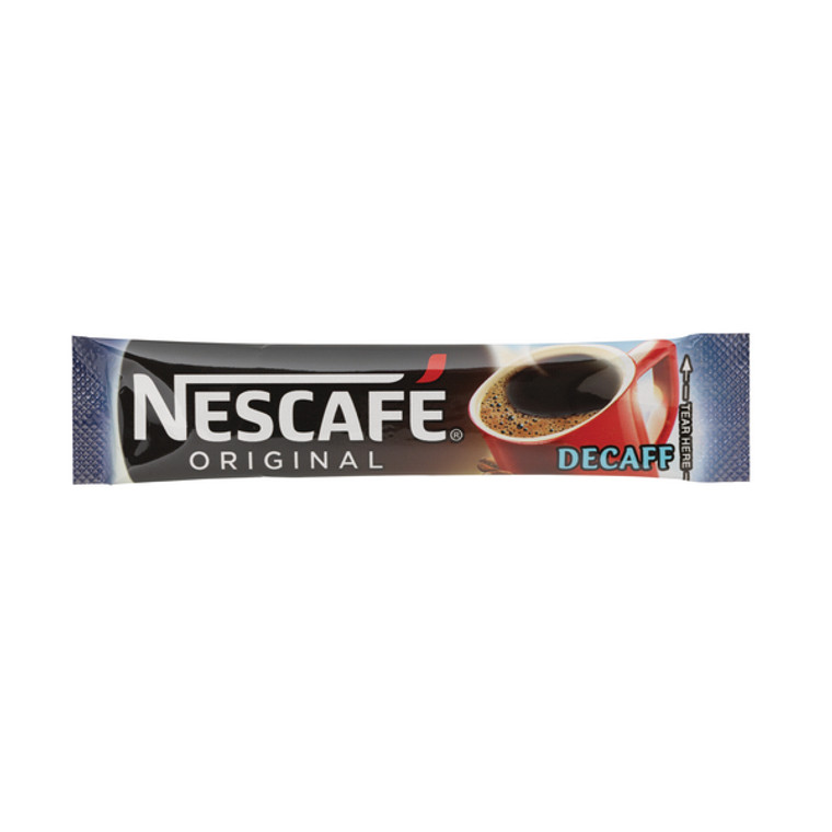 NL72758 Nescafe Decaffeinated One Cup Sticks Coffee Sachets Pack 200 12315595