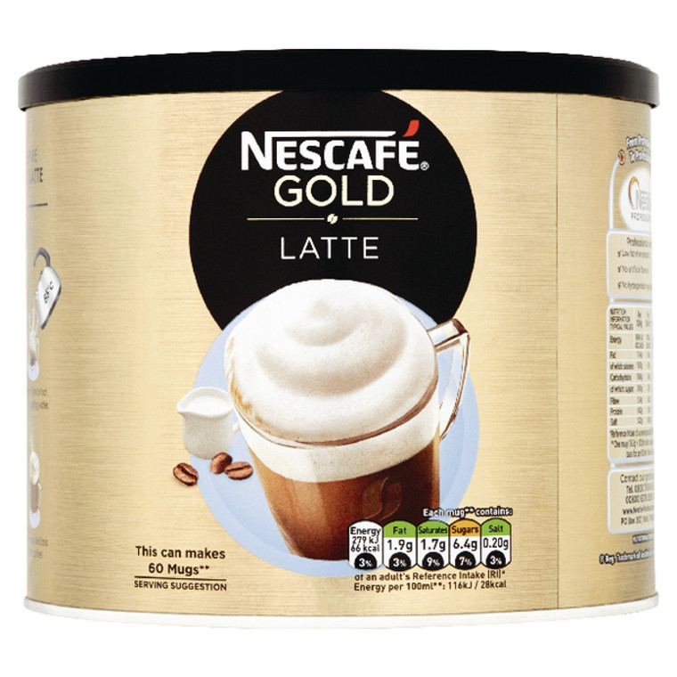 NL32938 Nescafe Instant Latte Sweetened 1kg Makes approx 60 cups