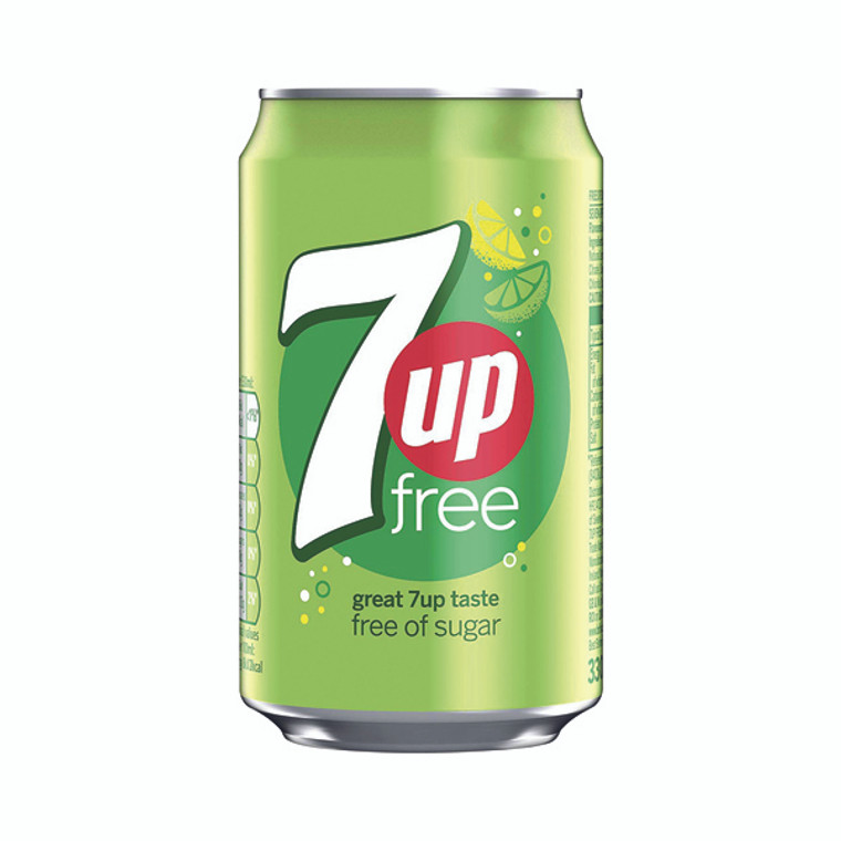 BRT00109 7-Up Lemon Lime Carbonated Canned Soft Drink 330ml Pack 24 402010
